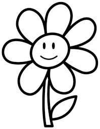simple flower coloring pages flower coloring pages for
