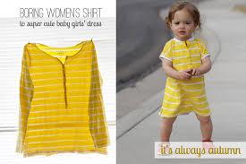 sew baby dress from women u0027s shirt it u0027s always autumn