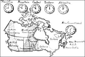 canadian map with time zones harbours to highlands a geography manual page 243