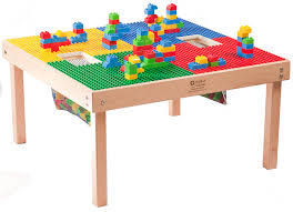 Happy Home Designer Duplicate Furniture by Amazon Com Heavy Duty Large Duplo Table With 2 Built In Lego