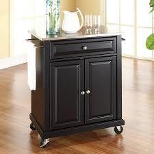 crosley furniture kitchen cart shop crosley furniture black craftsman kitchen cart at lowes com