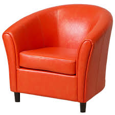amazon com best selling napoli orange leather club chair kitchen