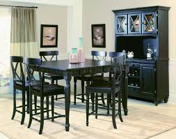 Tall Dining Room Sets Black Finish Modern Counter Height Dining Table W Optional Items