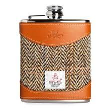 His And Her Flasks Custom Leather U0026 Tweed Hip Flasks Uk Darbymade