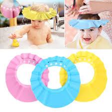 popular baby bath hat buy cheap baby bath hat lots from china baby adjustable baby hat toddler kids shampoo bath bathing shower cap wash hair shield direct visor caps