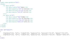 convert json to html table jquery convert html table element to json via data attributes