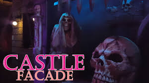 scary castle themed halloween yard haunt display youtube