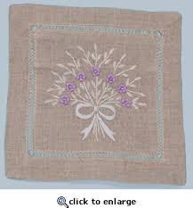 sachet bags 100 linen embroidered lavender bouquet sachet bag
