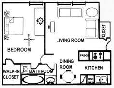Single Bedroom Apartment Floor Plans Small One Bedroom Apartment Floor Plans Google Search Gardens