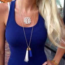 2 inch monogram necklace best monogram necklace acrylic photos 2017 blue maize