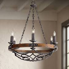 Forged Chandeliers Madera 28 1 4 Wide Black Iron Forged Chandelier 2y207