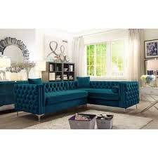 Blue Velvet Sectional Sofa Velvet Sectional Sofas For Less Overstock