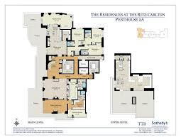 Ritz Carlton Floor Plans by Floor Plans Penthouse 2a Penthouse 2a