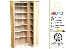 Corner Bookcases With Doors Corner Oak Bookcase Traditional Solid Oak L Shaped Corner