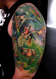 tree frogs arm tattoo tattoomagz