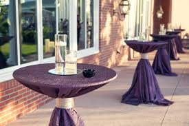renting table linens cocktail table linens purple thediapercake home trend