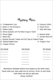 printable halloween scavenger hunt list