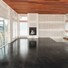stained concrete floor could do this in a finished basement