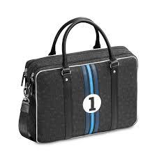 sacoche bureau sacoche bureau 15 pouces grise et bleue entre 2 rétros