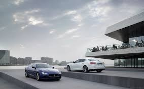download 2560x1600 white and blue maserati ghibli parked by the