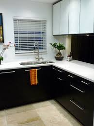 fine modern white and black kitchen in gallery contemporary keeps