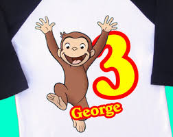 curious george birthday shirt etsy