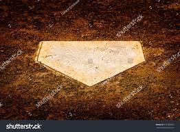 home plate on baseball diamond batter stock photo 573185056