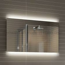 china modern full length hotel led illuminated bathroom mirror
