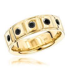 mens comfort fit wedding bands gold black diamond wedding band for men comfort fit five ring