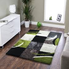 Black Area Rugs Soft Indoor Bedroom Shag Area Rug Black With Grey And Green Rug