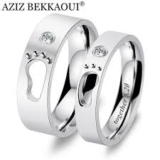 baby engagement rings images Aziz bekkaoui diy engrave name couple rings baby feet stainless jpg