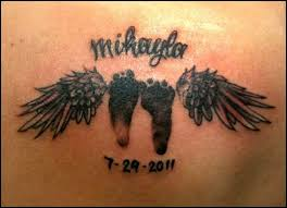 baby footprints with wings tattoostattoo themes idea
