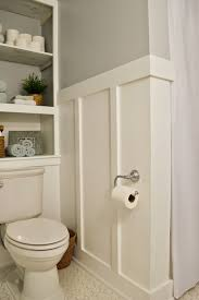 Unfinished Beadboard - pleasant board and batten bathroom come with brown and white