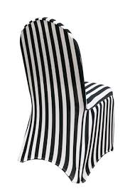 White Banquet Chair Covers Stretch Spandex Banquet Chair Cover Black And White Striped Your