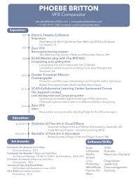 Vfx Jobs Resume by Resume
