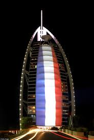 France Flag Images Wembley Stadium And Burj Khalifa Lit With French Tricolore For