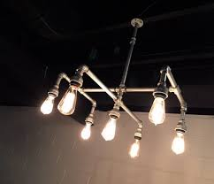 pipe chandelier galvanized pipe lighting edison by chicagolights