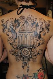 cool birdcage tattoo design tattoomagz