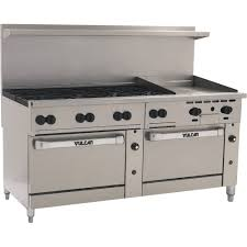 commercial stove 72 inch 72cc 8b24gp restaurant equipment