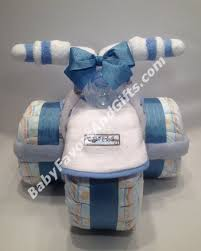 nautical whale seahorse diaper cake baby shower centerpiece
