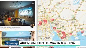 Dongguan China Map by Airbnb Inches Its Way Into China Bloomberg