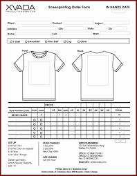 free blank order form template urban excel sendlettersinfo order