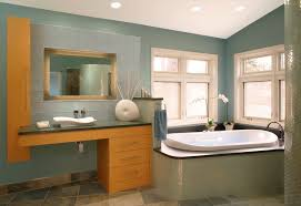 camel paint color bathroom contemporary with slate floor tile