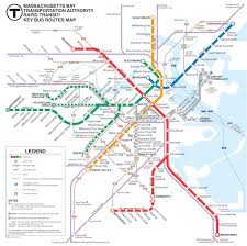 Boston Metro Map by Subways Thea 228 The Cartographic Imagination