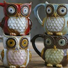 owl mug owl mugs 300ml coffee mug ceramic 3d animal milk tea