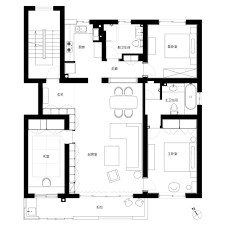 modern house interior floor plan