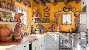 Mexican Kitchen Design Yellow Kitchen With Santa Fe Style Southwest Kitchen Decor