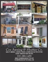 Colonial Awnings Cox Awning U0026 Shutter Awnings 4141 Bayou Black Dr Houma La