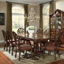 Marlo Furniture Liquidation Center by Millennium Ledelle 9 Piece Rectangular Table Set With Pierced Back