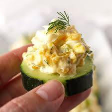 canape recipes egg salad and cucumber bites bullistron